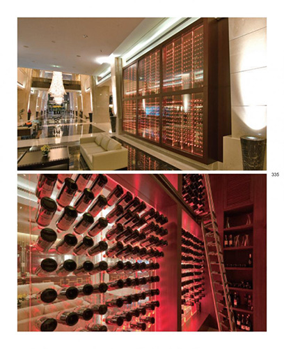 FWC custom wine wall with acyrlic wine racks - Marriott Hotel