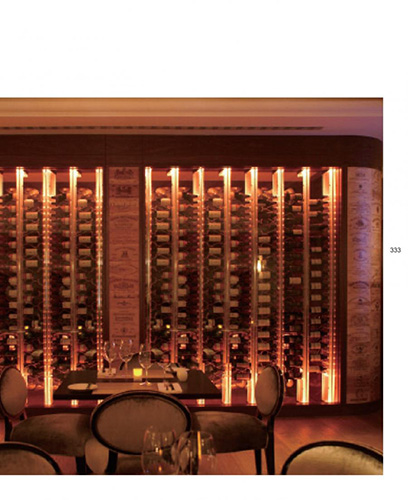 FWC custom design restaurant wine cellar