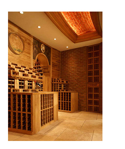 FWC walk-in grand wooden wine cellar