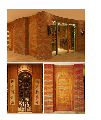 FWC custom design wine cellar doors