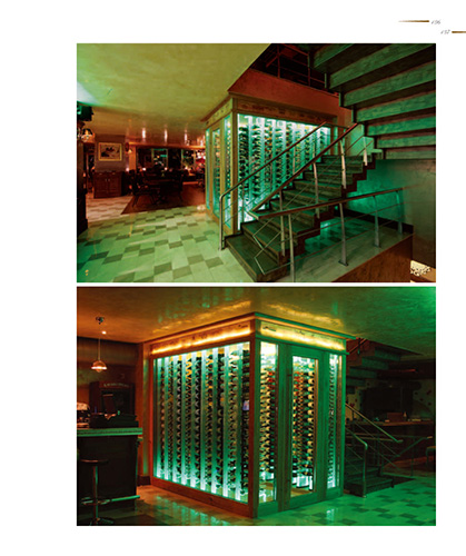 FWC transparent acyrlic wine cellar
