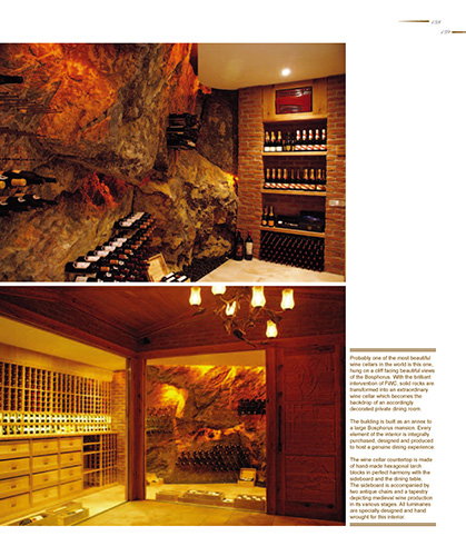 FWC wine cellar with rock wall